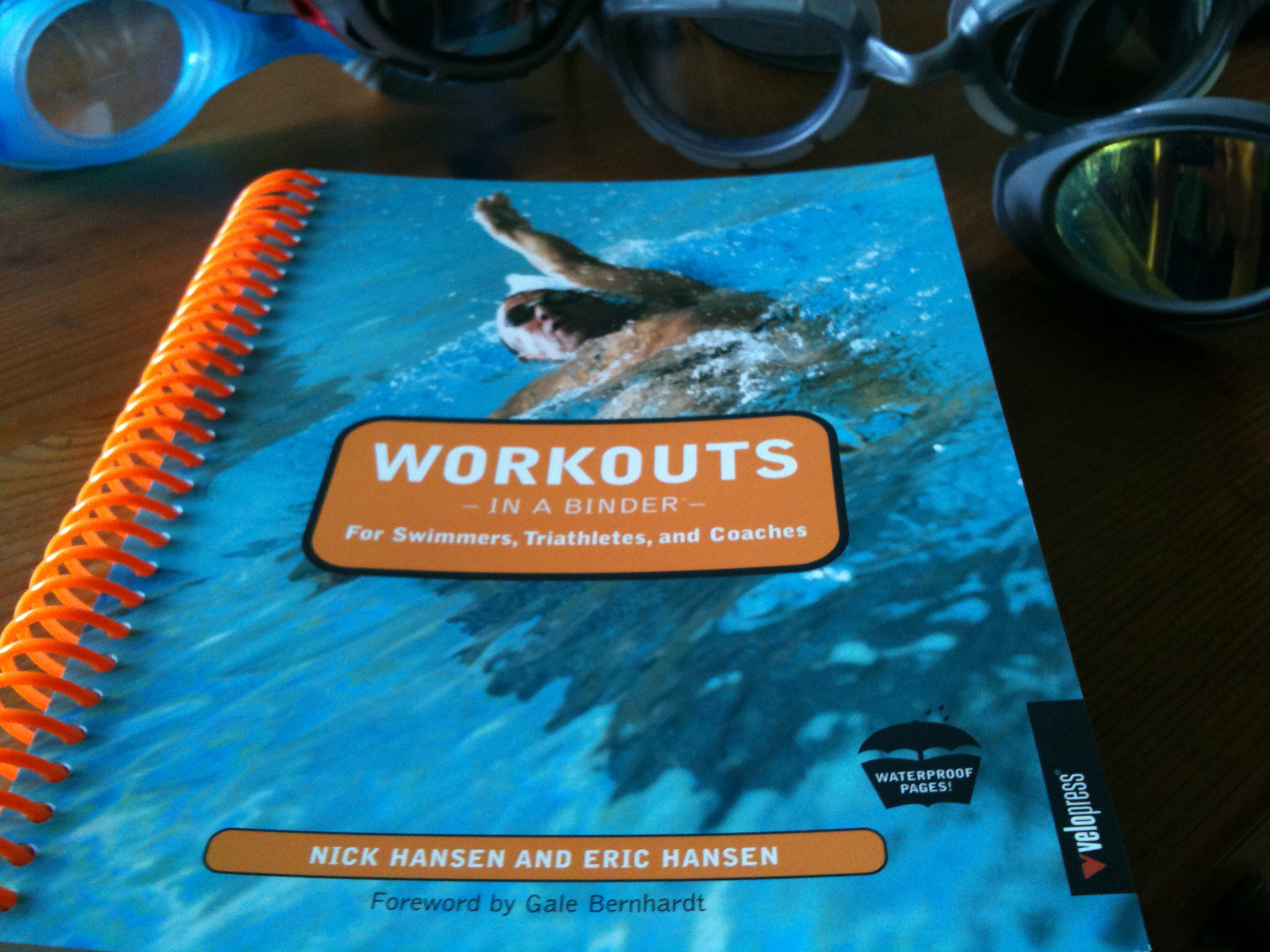 There's also a Workouts in a Binder for Swimmers, Triathletes and Coaches  version, (available from Cordee, RRP £20) which is perfect for any  triathlete.