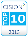 2013 Top 10 Cision Blog Badge