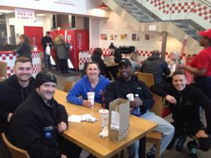 natural bodybuilders in five guys