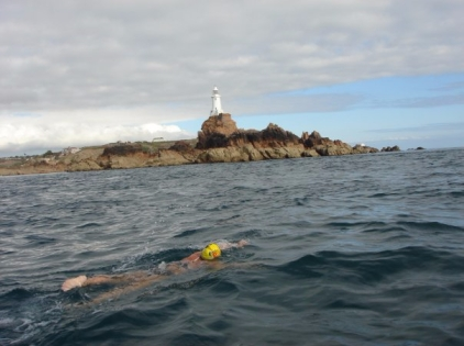 nicola joyce copywriter swimming round jersey